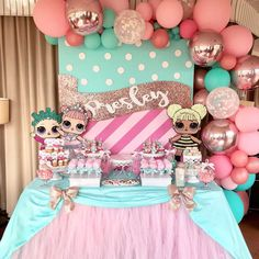 Don't miss this gorgeous LOL Surprise Doll Birthday Party!! See more party ideas and share yours at CatchMyParty.com #lolsurprisedoll #desserttable #birthdayparty