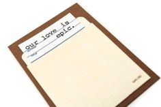 Valentines Day Card. Library Card. Our Love Is by CraftGoblin, $5.00