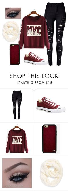 """""""love"""" by nallely-ma on Polyvore featuring Converse, Wildflower, Echo, women's clothing, women, female, woman, misses and juniors"""