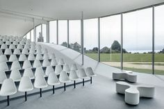 ... Contemporary upholstered bench / leather / for public buildings / white FLOWER by Sanaa vitra USA