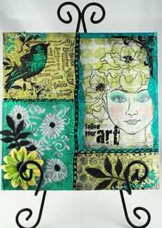 The Pampered Stamper: The Faces of Mixed Media