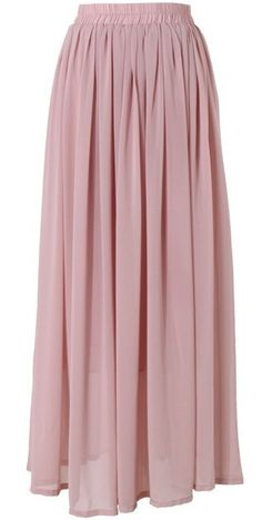 Conservative Modest full length pink dusty rose maxi skirt | Mode-sty tznius fashion style hijab muslim islamic mormon lds jewish christian no slit