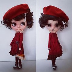 """Two dolls in one my! Latest two faced custom Blythe Doll """"Eva"""" with a victorian vampire twisted"""