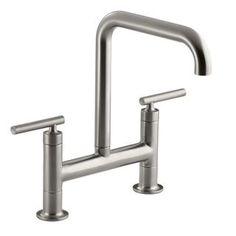 Check out the Kohler K-7547-4 Purist Deck Mount Bridge Faucet