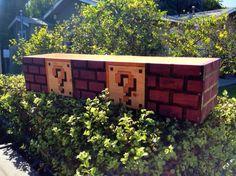 Mario game brick wall for garden
