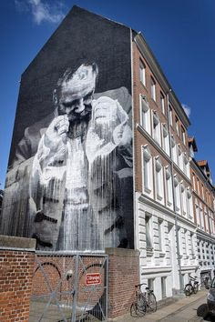 Conor Harrington creates a new mural in Aalborg, Denmark #streetart