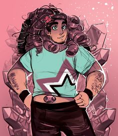 afatblackfairy:  winters-shade:  Both Rose and Greg had luscious locks, Steven cannot escape his destiny of fabulous hair.   OLDER STEVEN YES PLS