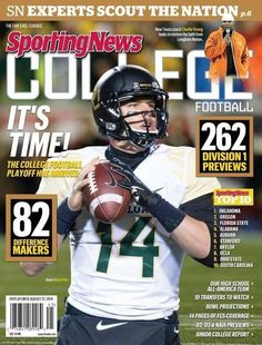 Sporting News 2014 preview out: #Baylor football ranked 7th nationally, with 5 preseason All-Americans (including cover boy Bryce Petty). #SicEm