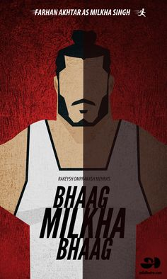 Bhaag Milkha Bhaag is one of the finest movie in the recent days, this movie has inspired millions of people and I am one among them.Being a graphic designer I was wondering how can I applaud this movie later I came up with a Minimalistic approach to cr… Marvel Movie Posters, Disney Movie Posters, Marvel Avengers Movies, Minimal Movie Posters, Minimal Poster, Movie Poster Art, Film Posters, Old Bollywood Movies, Bollywood Posters