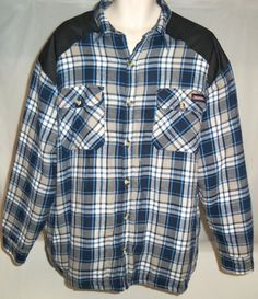MENS DICKIES PLAID FLANNEL LUMBERJACK QUILTED WORK WINTER SHIRT JACKET XL #Dickies #BasicHeavyQuiltedShirtJacket