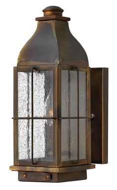 "Hinkley Lighting 2040 12.5"" Height 1 Light Lantern Outdoor Wall Sconce from the Sienna Outdoor Lighting Wall Sconces Outdoor Wall Sconces"