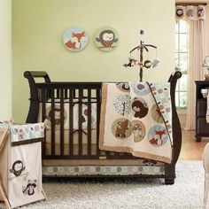 Forest Friends 5 Piece Baby Crib Bedding Set with Bumper by Carters