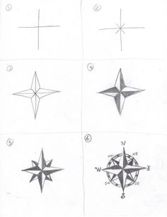 How to draw a compass rose , How to draw maps, Tutorial with thanks to creators joy , Resources for Art Students, CAPI ::: Create Art Portfolio Ideas milliande.com, Art School Portfolio Work