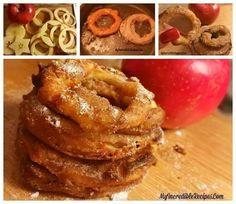 Crispy Cinnamon Sugar Apple Rings http://myincrediblerecipes.com/cinnamon-sugar-apple-rings/