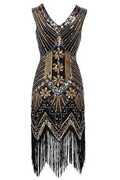 BABEYOND Women's Flapper Dresses 1920s V Neck Beaded Frin... https://smile.amazon.com/dp/B01LXOFQHQ/ref=cm_sw_r_pi_dp_x_MV9yyb1AKB51W
