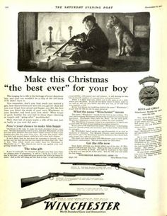 1917 Winchester rifles ad. The Saturday Evening Post.