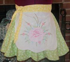 Shabby chic  apron hostess apron cottage by allthingsoldarenew, $29.00