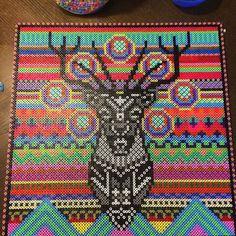 Deer hama perler bead art by  tinej80