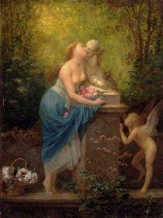 Picou, Henri Pierre (b,1824)- Cupids