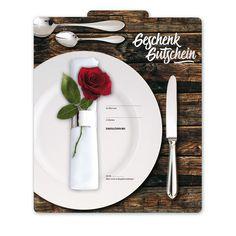 Multicolor-Geschenkgutschein G2014 für Gasthäuser, Restaurants und die ganze Gastronomie. Restaurants, Napkins, Tableware, Fine Dining, Things To Do, Cards, Gifts, Dinnerware, Towels