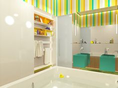 Contemporary Private Apartment - Hungary / children's bathroom
