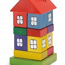 Huis gekleurd van Ostheimer, Bouwen