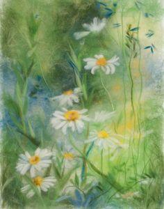 """В траве"" Картина из волокон сухой шерсти"