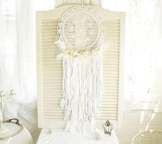 Wanddeko - ~•♡•~ Großer Boho Traumfänger  ~•♡•~ - ein Designerstück von kuki-kuki bei DaWanda