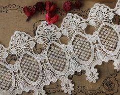 Vintage Lace Trim Antique Mirror Venice Lace Trim Fabric