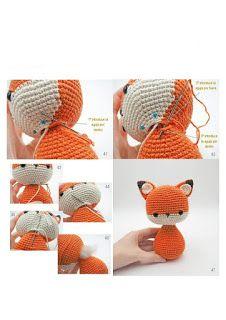 GURUMİ TARİFLERİ : TİLKİ MİLO Crochet Mouse, Crochet Bear, Crochet Hats, Octopus Crochet Pattern, Fox Pattern, Baby Knitting Patterns, Crochet Patterns, Knitting Dolls Clothes, Real Doll