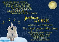 Custom You Print On the Night You Were Born Party by Bubskiworks, $10.00