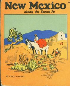 New Mexico postcard by Fred Geary for Fred Harvey & Co.