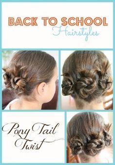 Back to School Hairstyles - Pony Tail Twist
