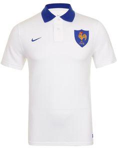 0fc87b5f046044 Nike Homme Vintage FFR France Rugby Polo Shirt, blanc, Taille 2XL  Amazon.fr   Vêtements et accessoires