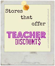 Stores That Offer Teacher Discounts