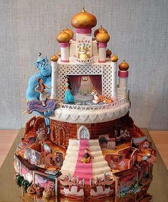 Only the most amazing Aladdin themed cake that I've ever seen.  Detail is incredible.