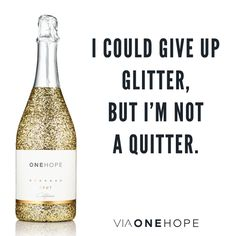 Every glitter bottle provides 15 meals to a child in need.   www.viaonehope.com/thecottonjen