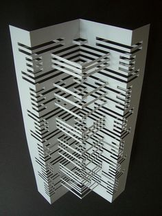Clever use of laser cutter to create void shapes.