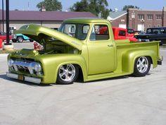 Visit The MACHINE Shop Café... ❤ Best of Trucks @ MACHINE ❤ (1956 Ford F100 Pickup Truck)