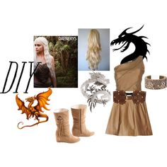"""Daenerys, Game of Thrones DIY Costume"" by boredmommy on Polyvore"