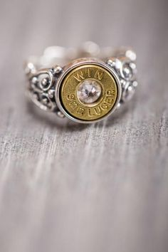 Bullet Ring for Southern Belles. A portion of the sale of these rings is donated to Wounded Warriors. Bullet Ring for Southern Belles. A portion of the sale… Bling Bling, The Bling Ring, Jewelry Box, Jewelry Accessories, Bullet Jewelry, Metal Jewelry, Bullet Earrings, Teen Jewelry, Macrame Jewelry
