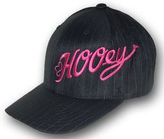 "Mens Cowboy Hats HOOey ""Scoreline"" Eco-Black FlexFit Cap"