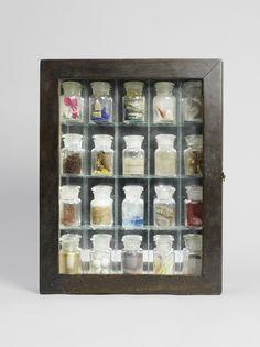 From Royal Academy of Arts, Joseph Cornell, Pharmacy Box construction, × × cm Joseph Cornell Boxes, Collages, Royal Academy Of Arts, Find Objects, Adventures In Wonderland, Assemblage Art, Box Art, American Artists, Pharmacy