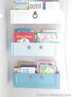 What a genius way to upcycle old drawers!