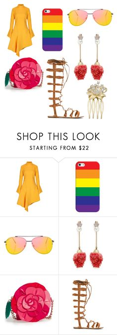 """""""Untitled #253"""" by alexandriamcbride on Polyvore featuring Paper London, Casetify, Topshop, Venna, Kate Spade and Raye"""