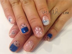 Japanese nail art. Triangles ZOZOPEOPLE | virth+LIM - コト