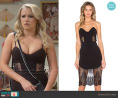 Gabi's black lace panel date dress on Young and Hungry.  Outfit Details: https://wornontv.net/58503/ #YoungandHungry  Buy it here: http://wornon.tv/36843