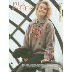Knitting pattern for Ladies jumper with embroidery at yoke and a collar Listing in the Sweaters & Clothes,Patterns,Knitting & Crochet,Needlework,Crafts, Handmade & Sewing Category on eBid United Kingdom | 153534167