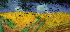 Vincent van Gogh Crows over a Wheatfield painting for sale - Vincent van Gogh Crows over a Wheatfield is handmade art reproduction; You can buy Vincent van Gogh Crows over a Wheatfield painting on canvas or frame. Van Gogh Pinturas, Vincent Van Gogh, Van Gogh Museum, Art Van, Van Gogh Arte, Crow Painting, Watercolor Painting, Van Gogh Paintings, Wheat Fields