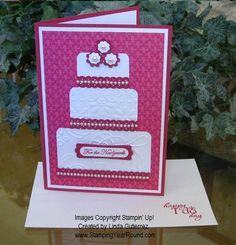 WEDDING CARD ROSE RED